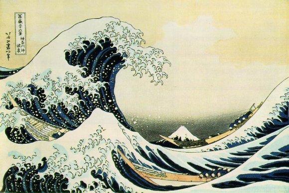 La grande vague de Kanagawa par Hokusai